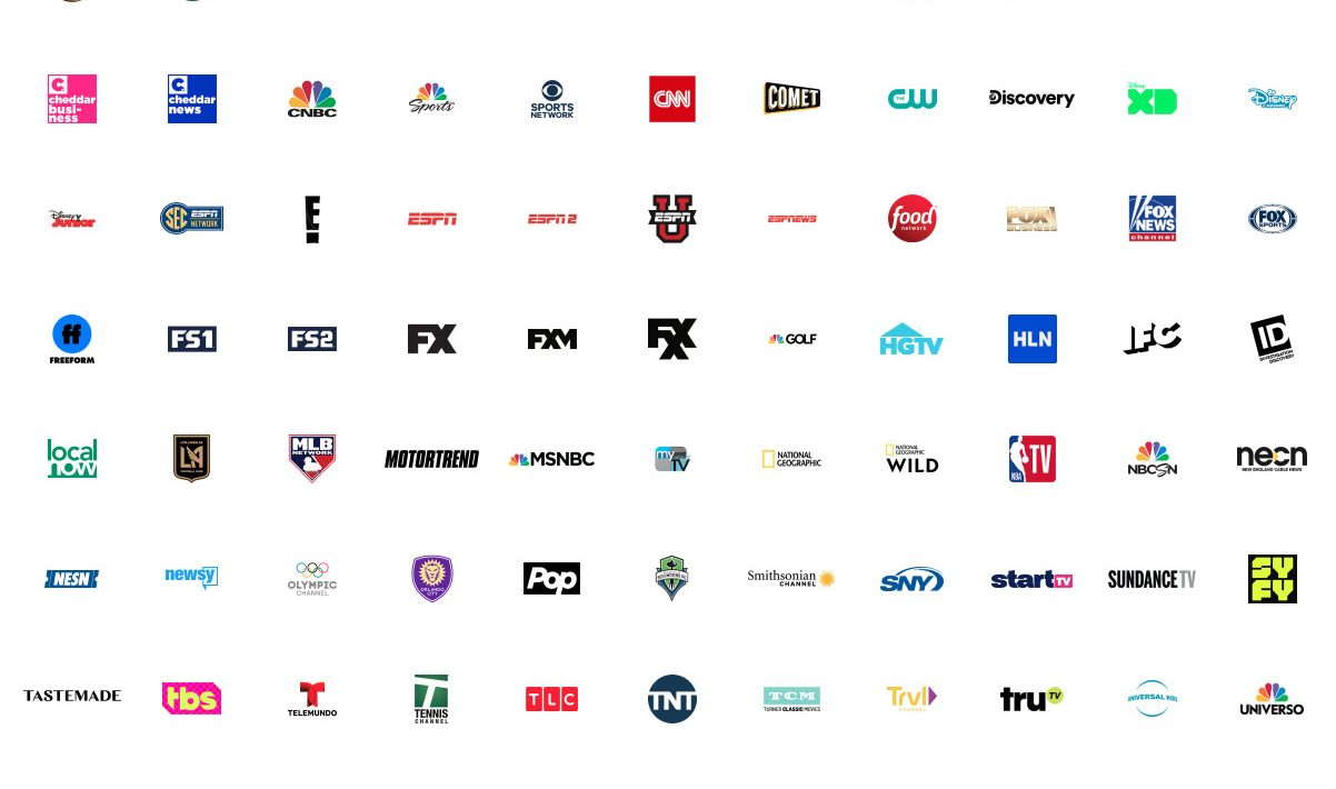 youtube tv channel list