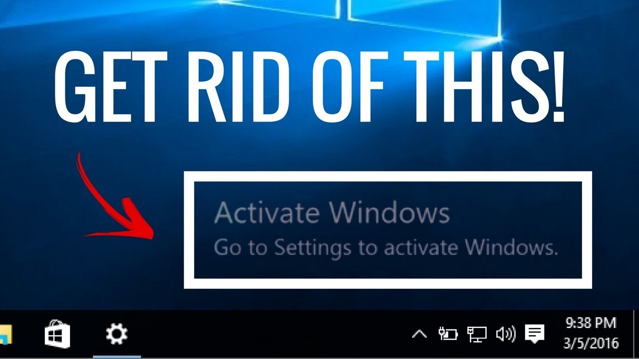 how to get rid of activate windows